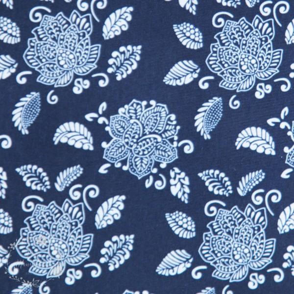 Softshell blomster blå