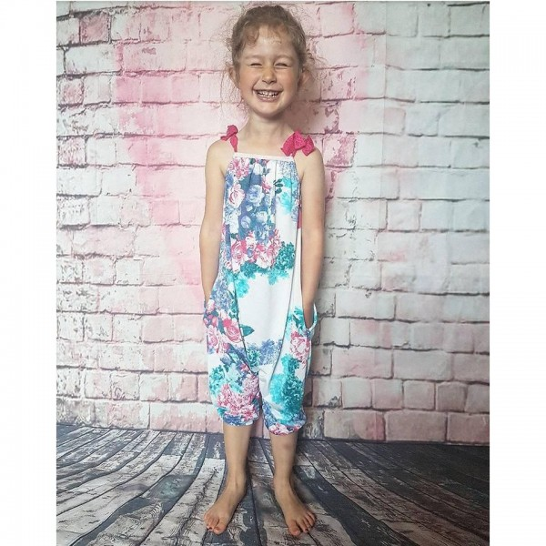 """Snitmønster til børn """"Summer Romper / Dress"""" str 62 - 164"""