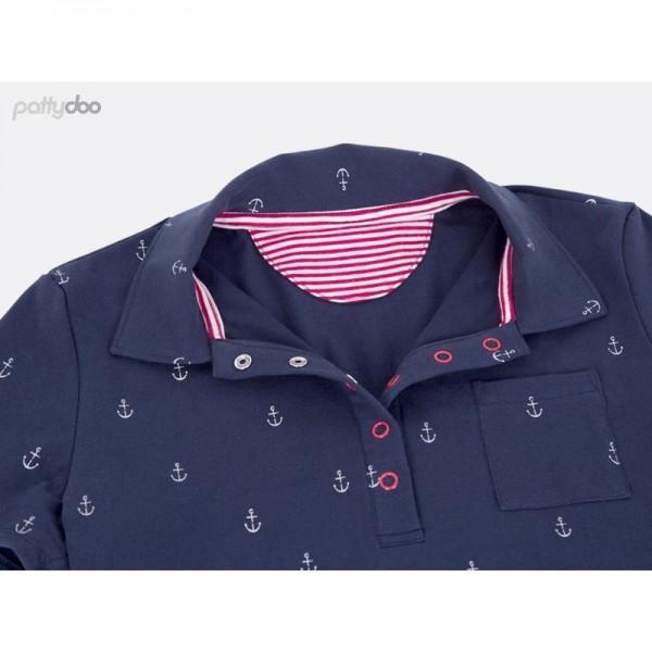 """Snitmønster Dame-Polo-Shirt """"Leslie"""" str 32 - 54 by pattydoo"""