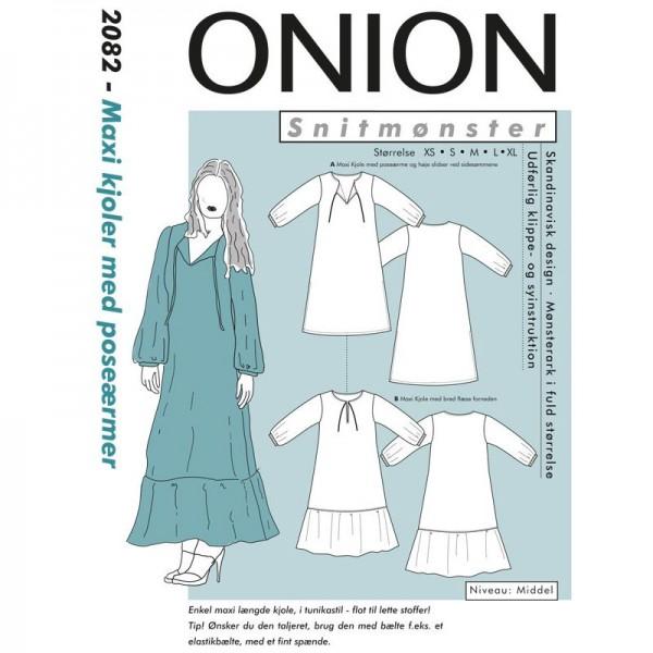 """Snitmønster Onion 2082 """"Maxi kjoler med..."""