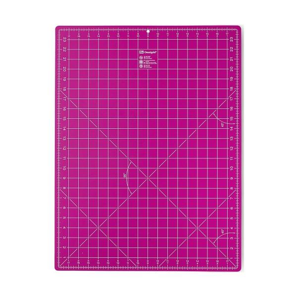Skæreunderlag fra Prym 45 x 60 cm (inch + cm) pink