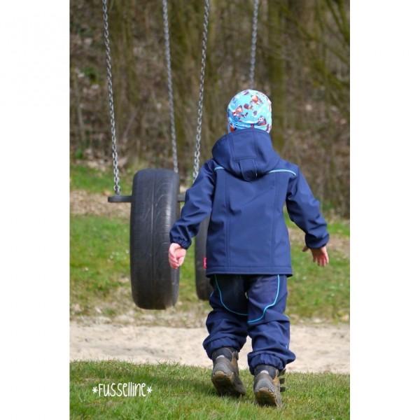 "Snitmønster Kids-Softshell-Jakke ""Quinn"" str 98 - 176"