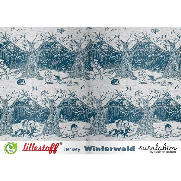 "BIO-Bomuldsjersey ""Winterwald"" by Susalabim"