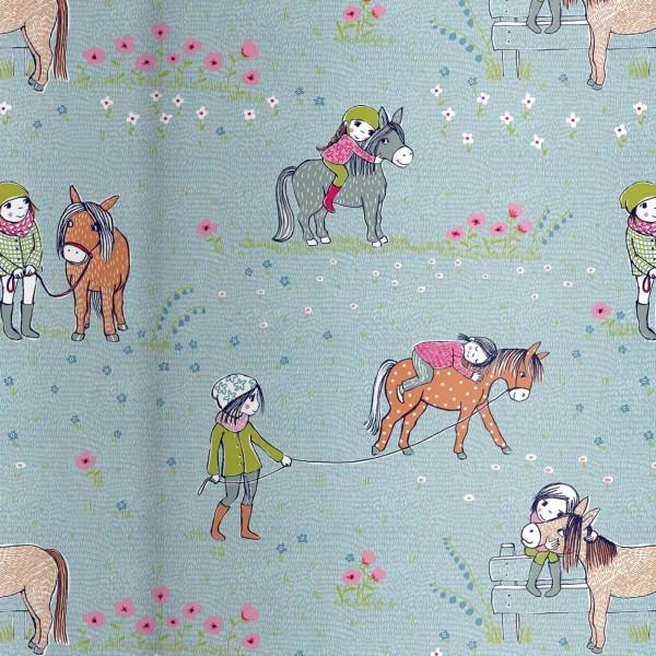 """BIO-French Terry """"Pony-Liebe"""" by Susalabim"""