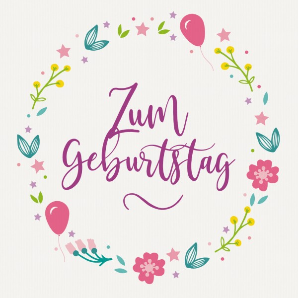 "Gavekort ""Zum Geburtstag"""