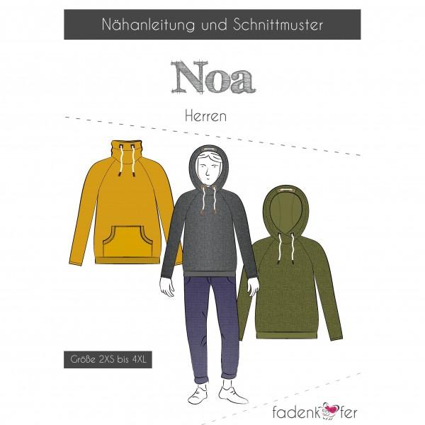 """Snitmønster Hoodie """"Noa"""" Herre str 2XS - 4XL"""