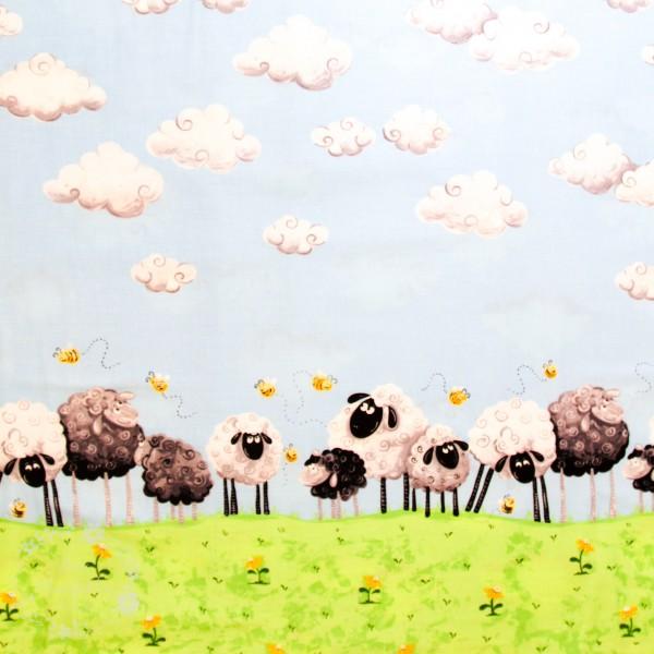 """Bomuld med kant """"Lewe the Ewe"""""""