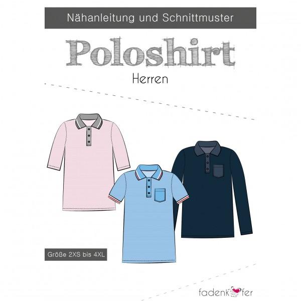 Snitmønster Herre-Polo-Shirt str 2 XS - 4 XL