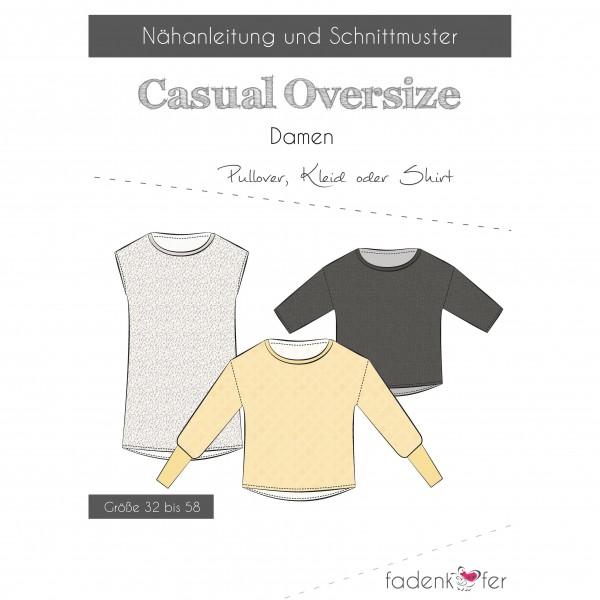 "Snitmønster Shirt ""Casual Oversize"" Dame str 32..."