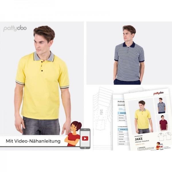 """Snitmønster Herre-Polo-Shirt """"Jake"""" str XS -..."""