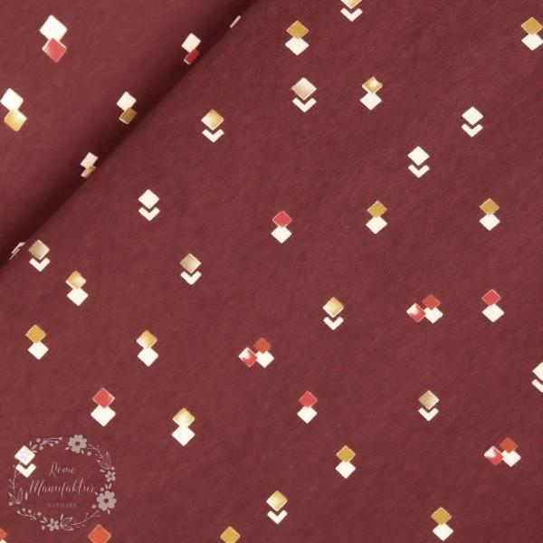 Slub-Jersey med firkanter