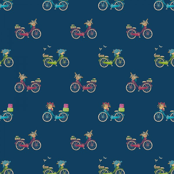 "Bomuld-Poplin ""Bicycle"""