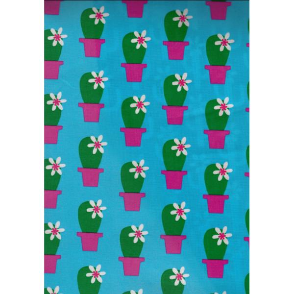 "TILBUD - Voksdug ""Cactus Blossom blå"" by jolijou"