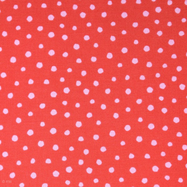 "Bomuld ""Junge Linie"" rød konfetti"