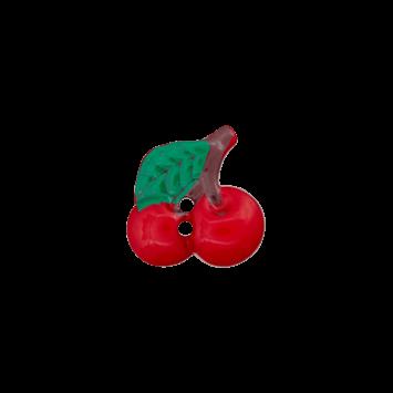 "18 mm 2-hul-knap ""Kirsebær"""
