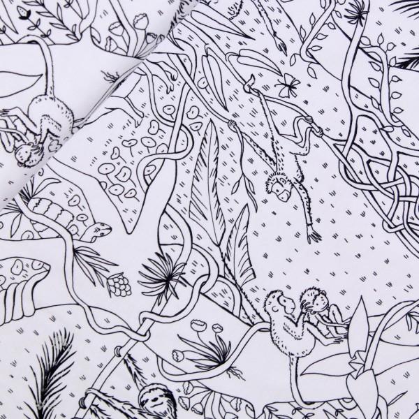 "BIO-Bomuldsjersey du kan tegne på ""Dschungel"" by susalabim"