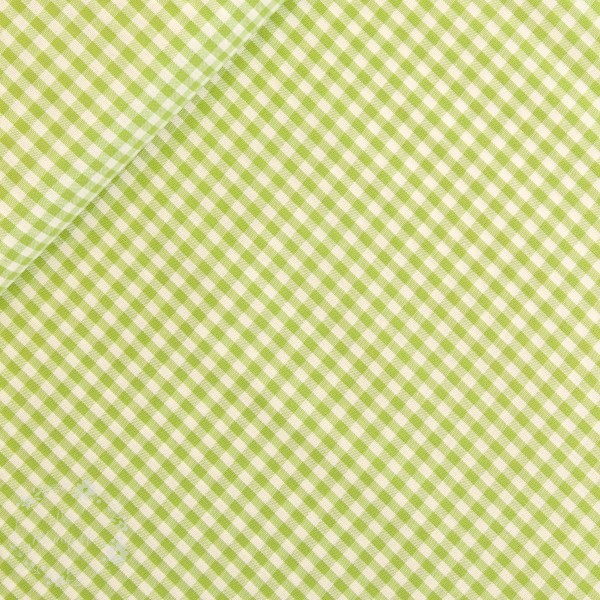 Bomuld ternet lysegrøn/hvid