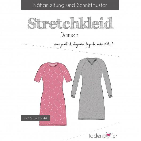 """Snitmønster Kjole """"Stretchkleid"""" Dame str 32 - 44"""
