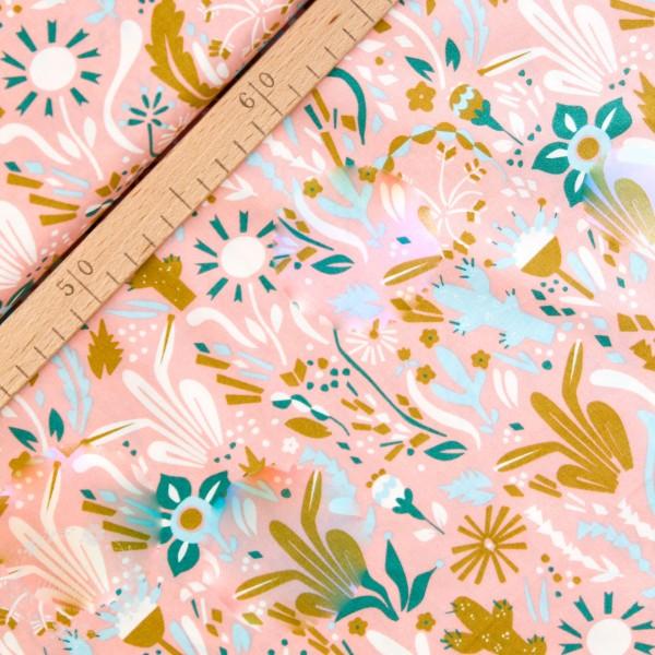"BIO-Bomuld ""Happy Town"" ei25 fra Birch Fabrics"