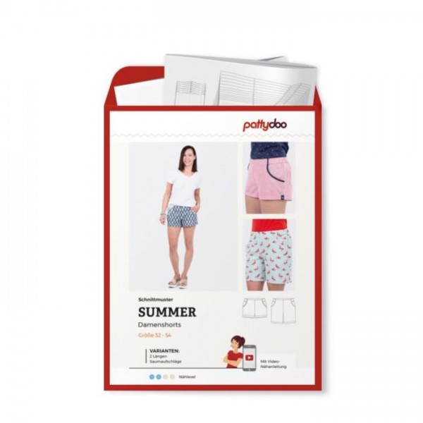 "Snitmønster Dame Shorts ""Summer"" by pattydoo..."