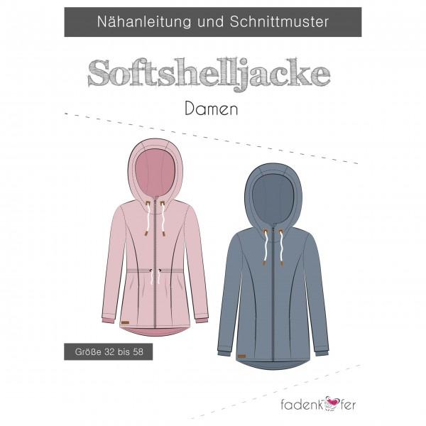Snitmønster Dame-Softshell-Jakke str 32 - 58