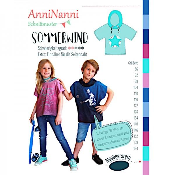 """Snitmønster Kids-Shirt """"Sommerwind"""" str 86 - 164"""