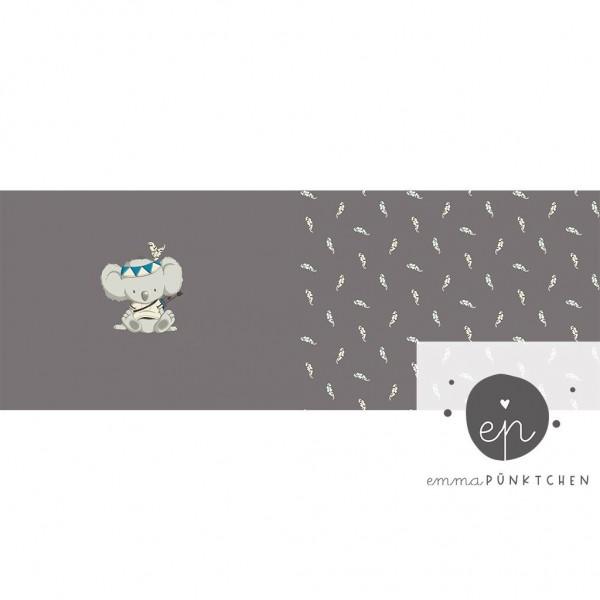 """50 cm Baumwolljersey Panel """"Boho Koala"""" by emmapünktchen"""