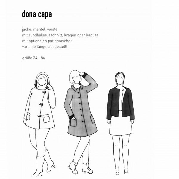 """Snitmønster Dame-Frakke """"Dona Capa"""" str 34 - 56"""
