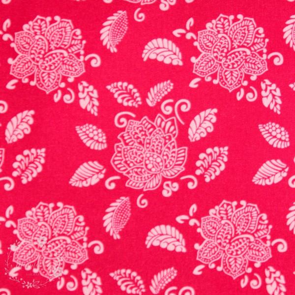 Softshell med blomster lyserød