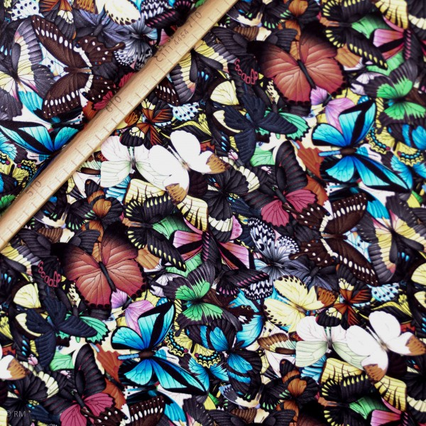 "Bomuldsjersey ""sommerfugle"""