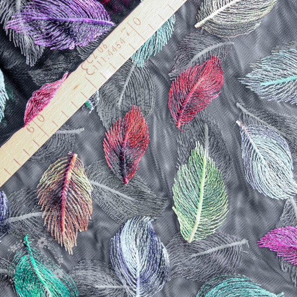 "Tyl ""Embroidery Leaves"" sort-multi"
