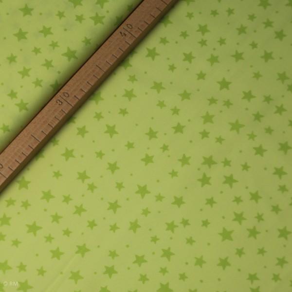 """Bomuld """"Junge Linie"""" grøn med stjerner"""