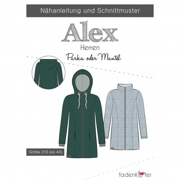 "Snitmønster Herre-Jakke ""Alex"" str 2 XS - 4 XL"