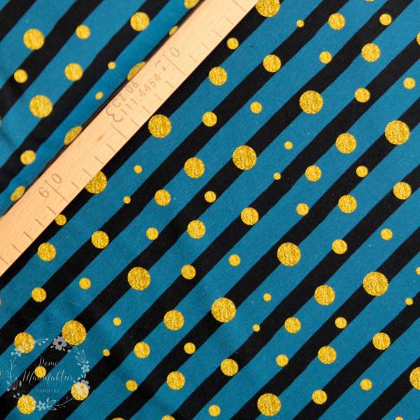 """Bomuldsjersey kollektion """"Theo"""" prikker og striber"""