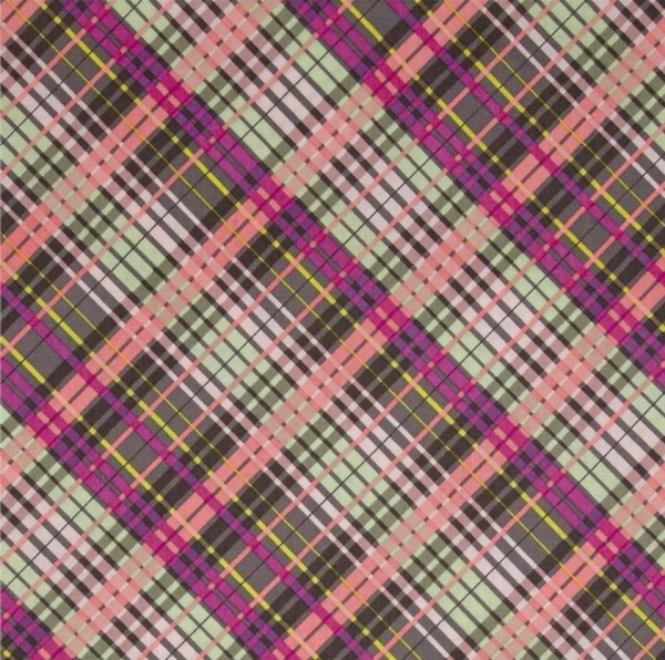 "Bomuld ""My Gray or the Highway"" Colorful Plaid"