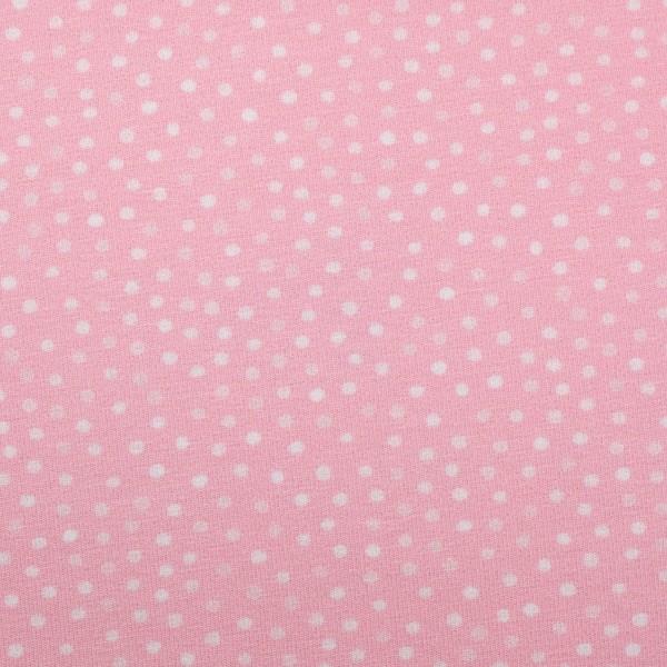 """Bomuldsjersey """"Little Spring"""" prikker (lyserød)"""