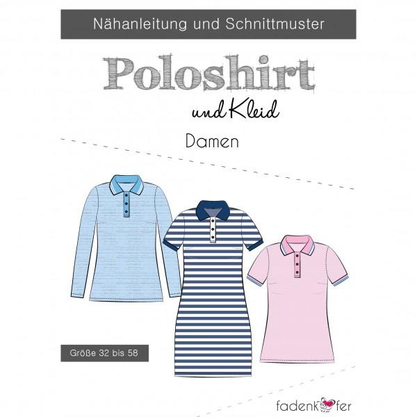 Snitmønster Dame-Polo-Shirt og -kjole str 32 - 58