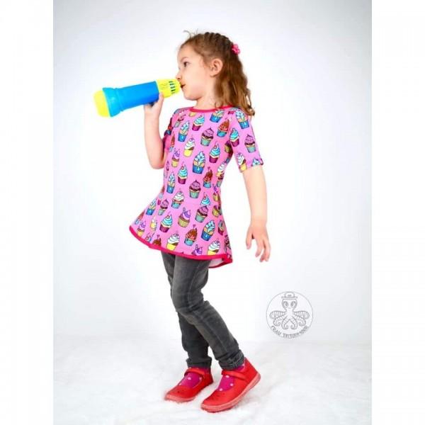 """Snitmønster til børn """"Cute as a cupcake"""" str 98 - 164"""