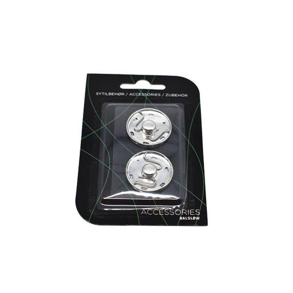 Tryklås Ø 25 mm sølv