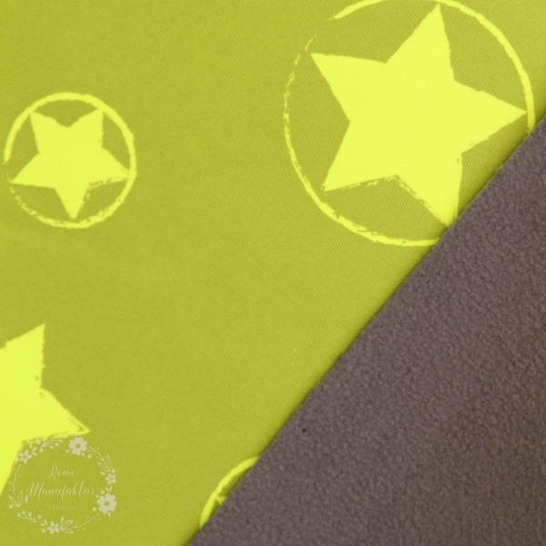 Softshell grøn med stjerner (neon)