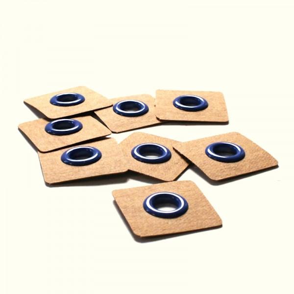 4 Snøreringe til påsyning blå Ø 8mm