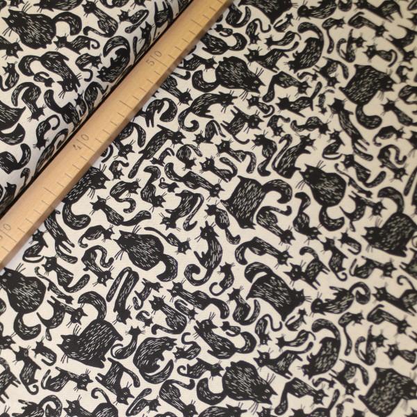 "Canvas fra KOKKA ""Tréfle - Cats Black & White"""
