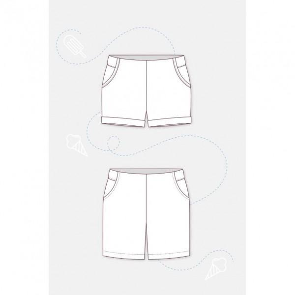 "Snitmønster Dame Shorts ""Summer"" by pattydoo str 32 - 54"