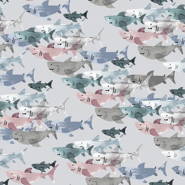 """Bomuld """"Kaikoura - Shark Frenzy"""" by Jessica Zhao"""