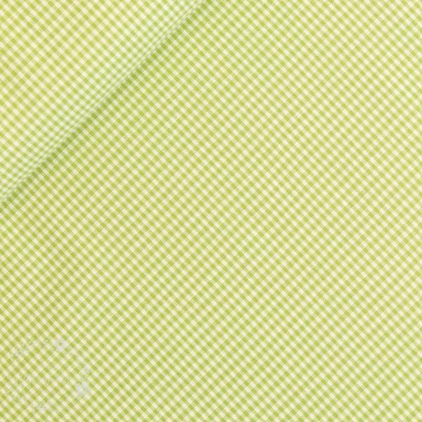 Bomuld ternet grøn/hvid