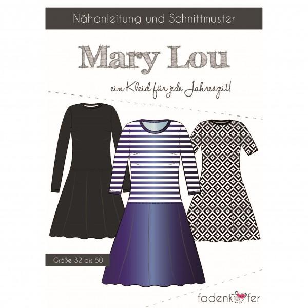 """Snitmønster Kjole """"Mary Lou"""" Dame str 32 - 50"""