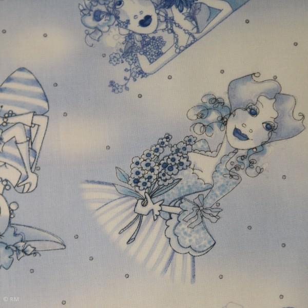 "Bomuld ""Flora Bleu - Ladies"" by Loralie"