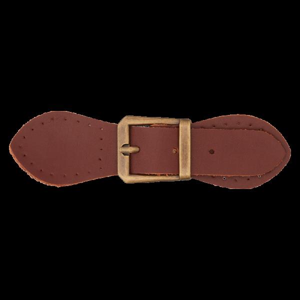 Læder-Lukning (11 cm) brun