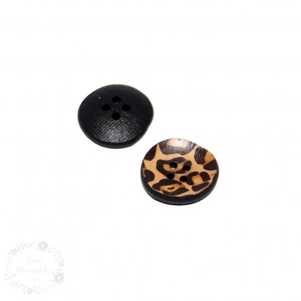 """4-hul-polyester-knap kollektion """"LEO"""" (20 eller 23 mm) Genbrugslæder"""