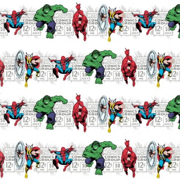 "Bomuld ""Marvel Comics III - Price & Hero Stripe"""
